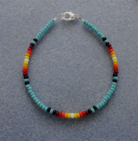 how to make american beaded bracelets turquoise sunburst beaded bracelet american made