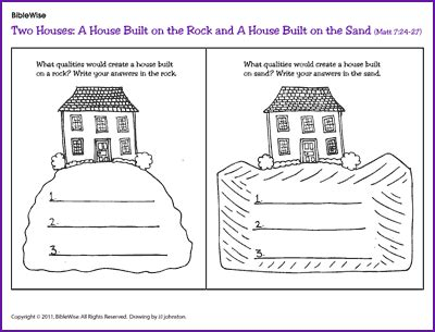 house built on sand house builton rock house rock 点力图库