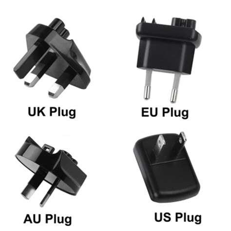 Thunder Traveler Charger 4 Usb Port 5v 2a With Single Eu Plugs thunder traveler charger 4 usb port 5v 2a with 4 interchangeable plugs black jakartanotebook
