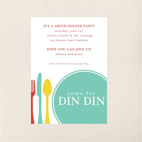 design an invitation card for dinner party dinner party invitation