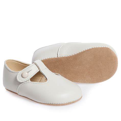 walker shoes early days ivory leather alex pre walker shoes