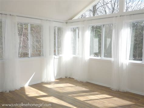 sunroom curtains window treatments the thrifty way to hang curtains just call me homegirl
