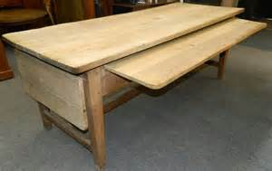 Big Kitchen Table Large Scrubbed Oak Kitchen Table Antiques Atlas
