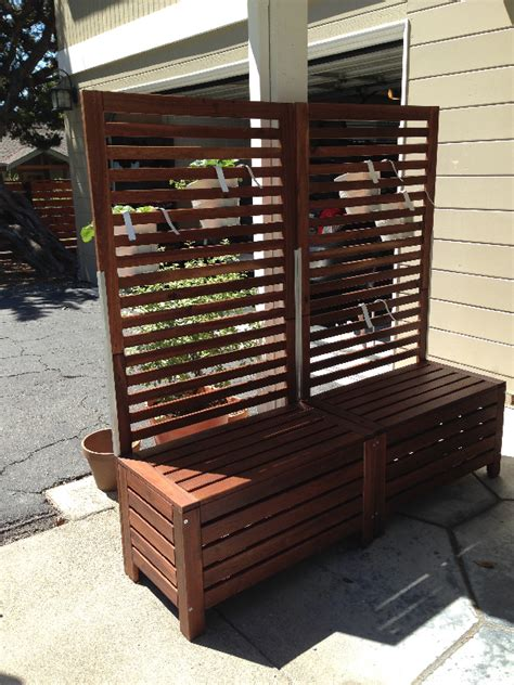 applaro free standing bench and trellis hack ikea hackers