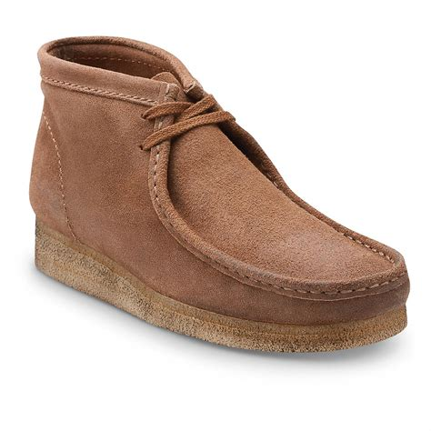wallabee boots clarks classic wallabee boots distressed taupe 653076