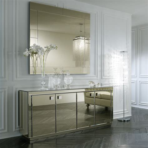 breathtaking distressed white wall mirror decorating ideas furniture glamorous mirrored buffet for living room