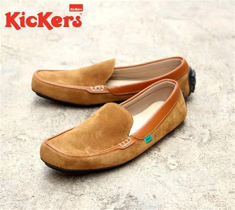 Sepatu Model Kickers Slop Kulit jual sepatu kickers pria terbaru kulit model selop