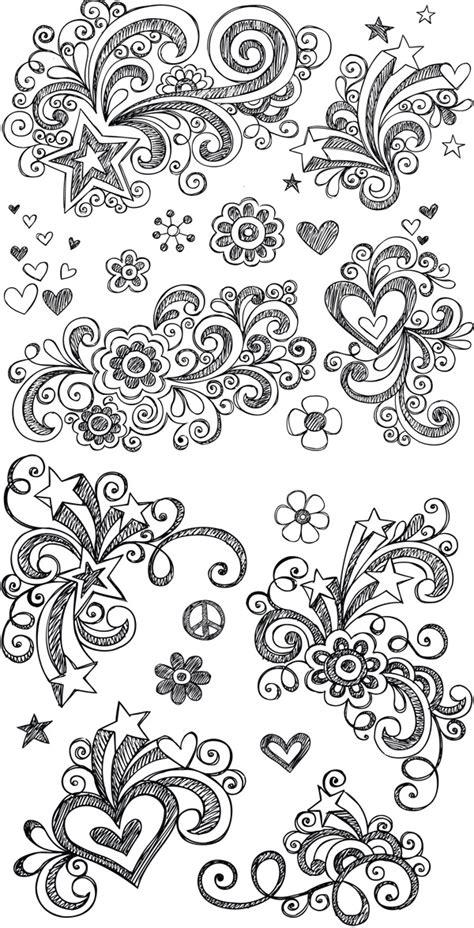 how to draw doodle designs 手绘花纹装饰矢量素材 矢量花纹 懒人图库