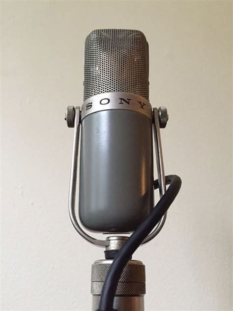 flashback 1950s sony c 37a microphone performer mag