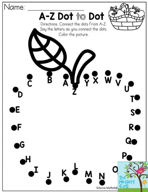 printable dot to dot a z images about preschool printables on pinterest alphabet