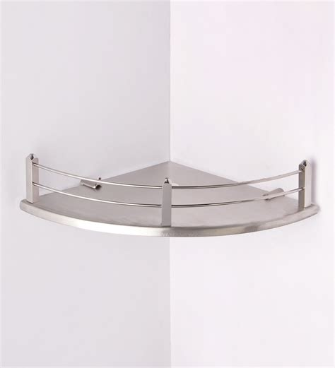 Bathroom Shower Shelves Stainless Steel Buy Regis Stella Silver Stainless Steel Bathroom Shelf Bathroom Shelves Bath Pepperfry