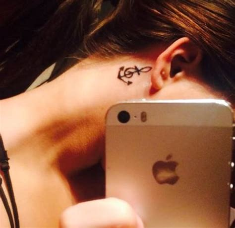 anchor tattoo behind ear meaning 110 awesome music tattoo collection for everyone wild