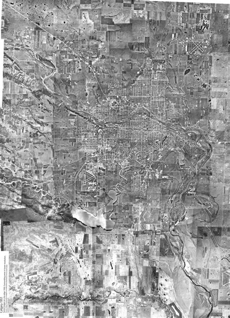 Calgary Aerial 1951 large | A stitch of about 200 photos