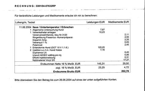 Rechnung Schweiz Ware Deutschland Erlebnisse Mit Einer Tierklinik