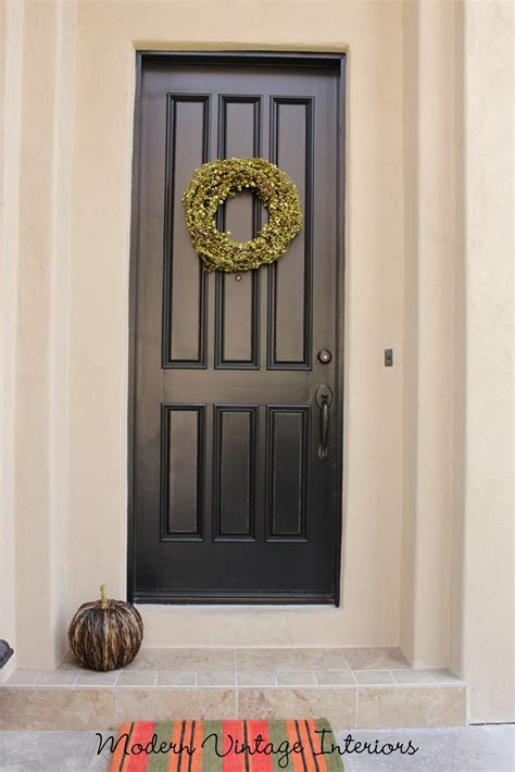 exterior door paint remodelaholic painting a wooden exterior door black