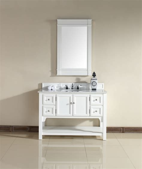 48 inch single sink bathroom vanity with guangxi white