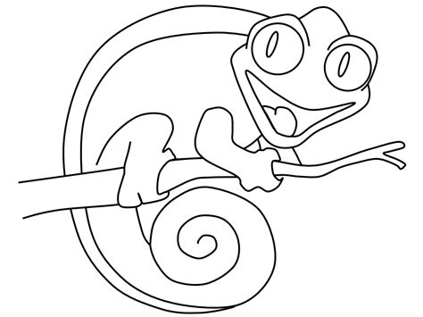chameleon coloring page chameleon coloring pages coloring home