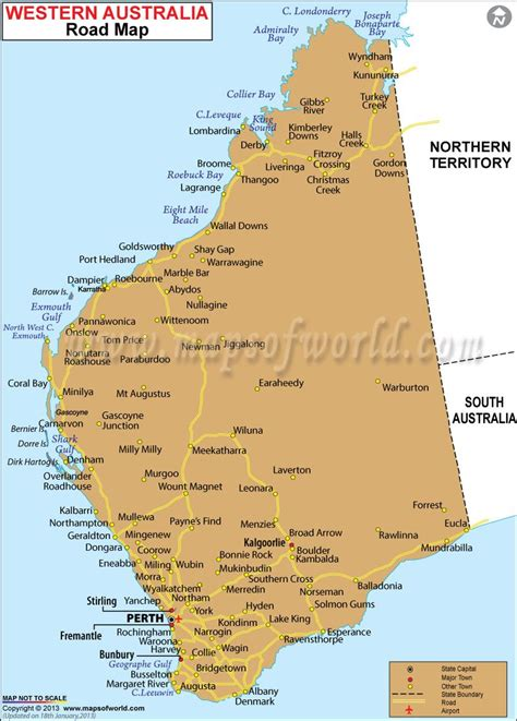 map of western australia road map of western australia maps