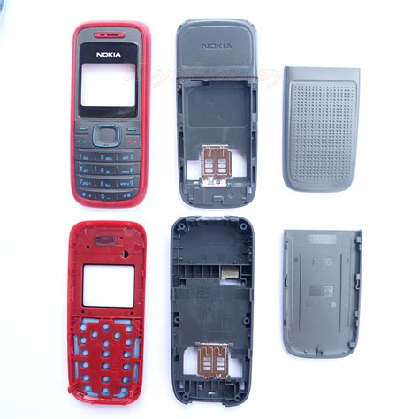 Casing Nokia N90 Non Keypad for nokia 1208 cover housing shell 3 colors front middle back cover keypad ebay