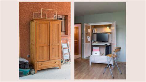 transformer une armoire en bureau transformer une armoire en secr 233 taire