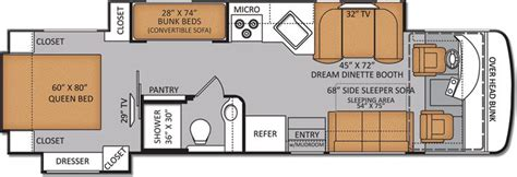 rv floor plans with bunk beds 2013 diesel rv with bunk beds html autos post