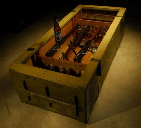 4 crate coffee table display your guns in the coffee table if you don t