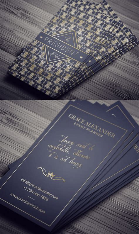luxury business card design template 25 professional business cards template designs design