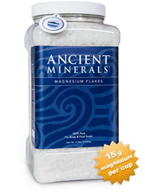 Magnesium Chloride Best Foe Cellular Detoxing by Magnesium Bath Flakes Ancient Minerals