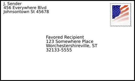address envelope template letter envelope format