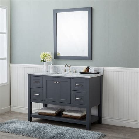 bathroom vanities wilmington nc alya bath wilmington 48 in single bathroom vanity in gray