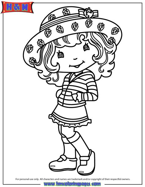 strawberry shortcake character coloring page h m