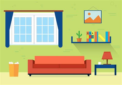 free living room vector illustration free