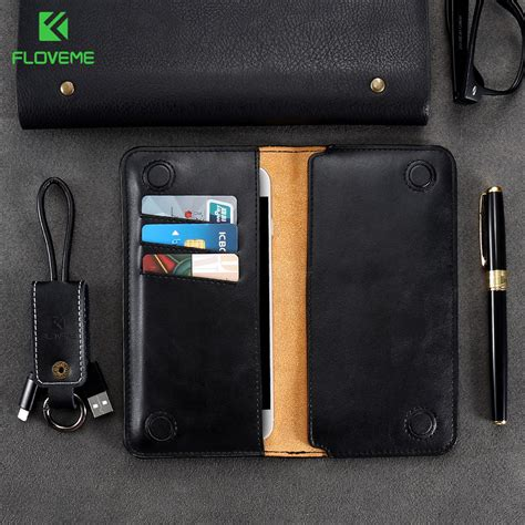 Original Samsung Universal Leather Pouch For Iphone 55s5se Etc floveme universal leather cover pouch for iphone 6 s