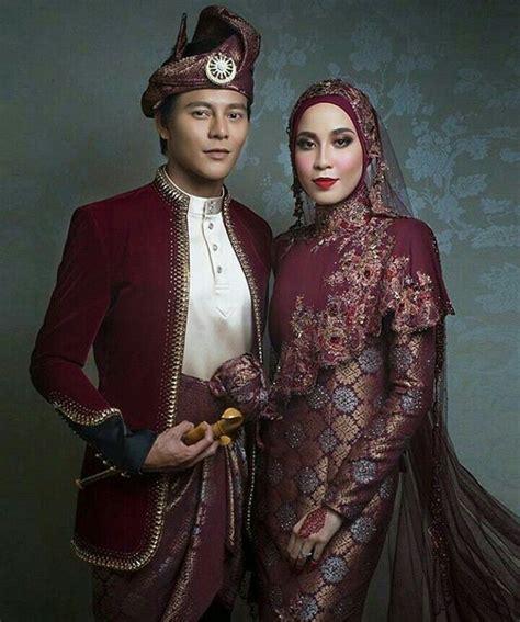 Maroon Songket beautiful maroon songket wedding dress designed by rizman