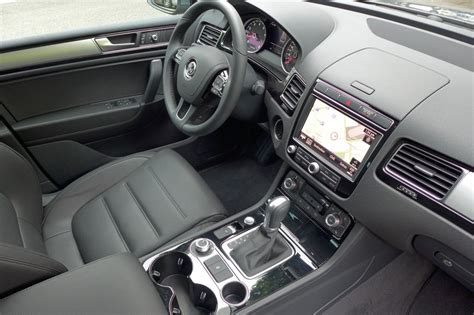 volkswagen suv 2015 interior 2015 volkswagen touareg v6 review price photos gayot