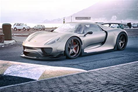 widebody porsche 918 here s some proper porsche 918 wide body renderings