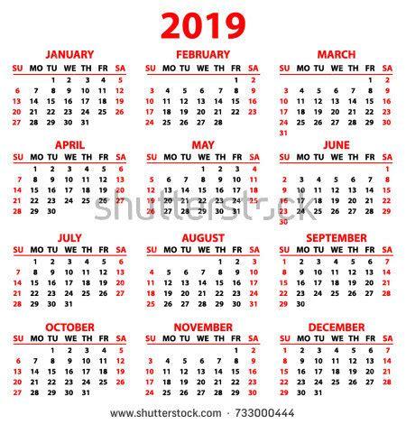 Baby Year Calendar Printable