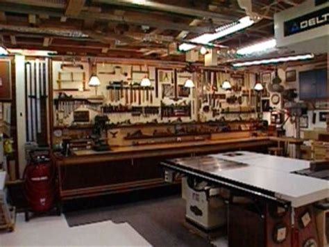 woodworking shop setup woodshop bench layout and lighting auto garages