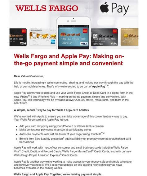 Forum Credit Union Fax Number Citibank Fargo Sending Its Customers An Introduction To Iphone 6 Apple Pay Iphone