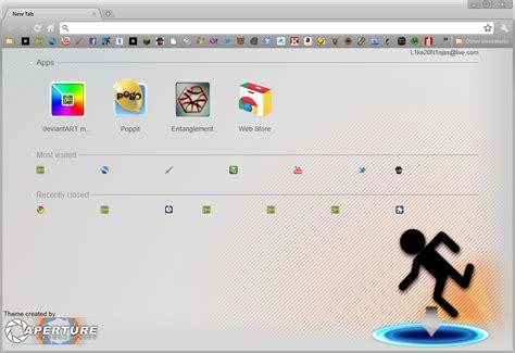 chrome theme randomizer simple portal chrome theme by mulsivaas on deviantart