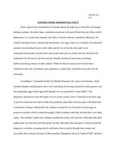 Essay About Australia by Unit2essay Australian Animal Adaptation