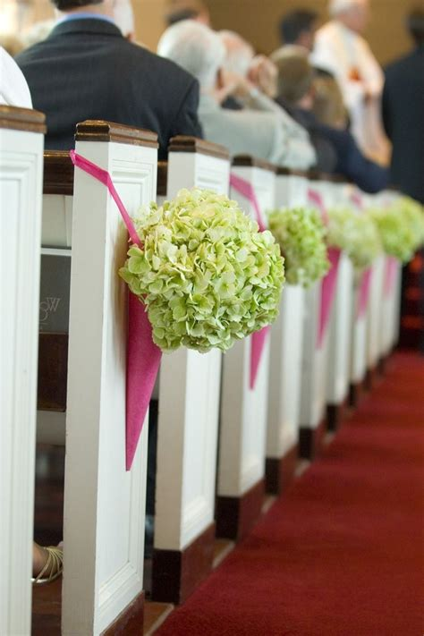 church pew end flowers and wedding decorations church