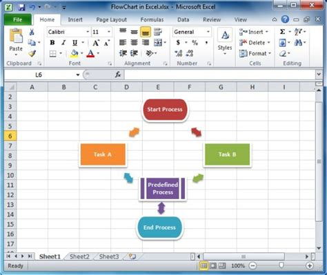microsoft excel 2010 flowchart template how to make a flowchart in excel