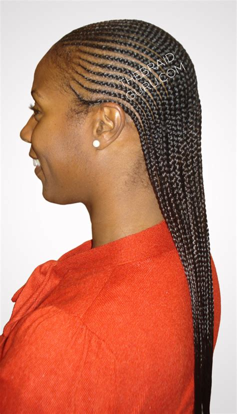 Cornrows Layers | 2 layer feed in cornrows side view braids by