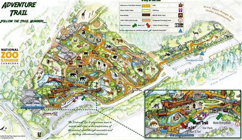 national zoo map canberra s zoos and animal encounters canberra