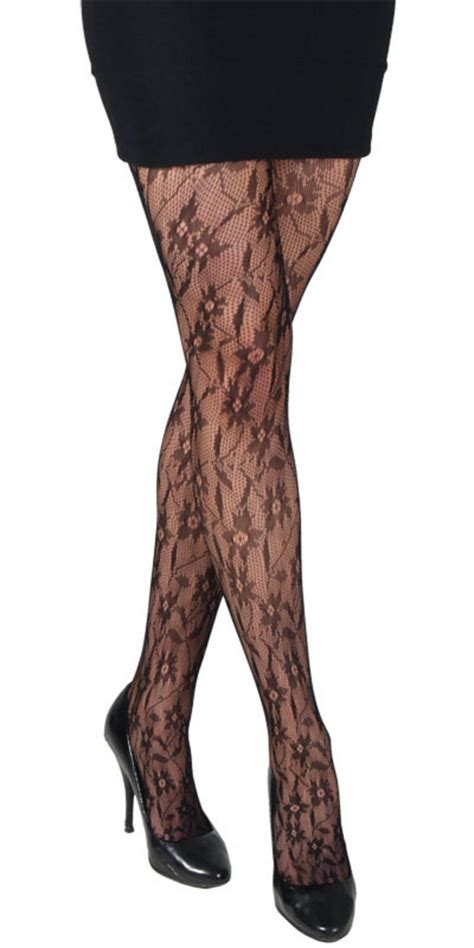 patterned tights vogue black fishnet patterned fashion tights lingerie new