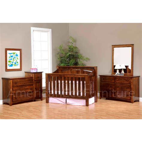 Solid Wood Convertible Crib Mission Panel 4 In 1 Convertible Baby Crib Solid Wood Convertible Baby Cribs Warehousemold