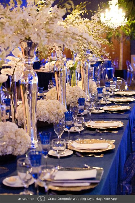 blue gold themes ideas 61 best royal blue wedding event decor images on