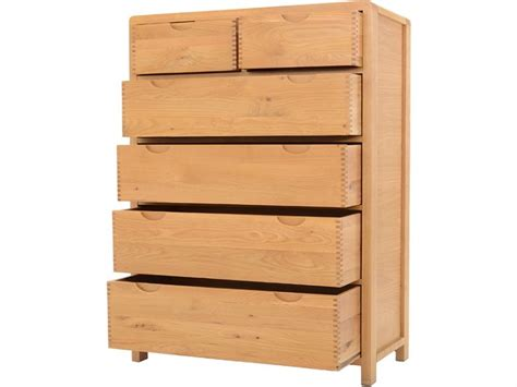 tall drawers bedroom ercol bosco bedroom oak 6 drawer tall wide chest lee
