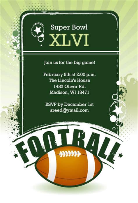 football invitations festive bowl invitation